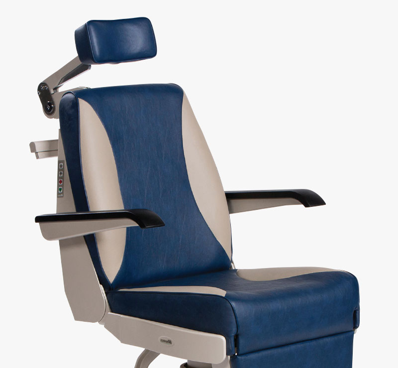 Marco Encore Automatic Eye Exam Chair Reclined Position