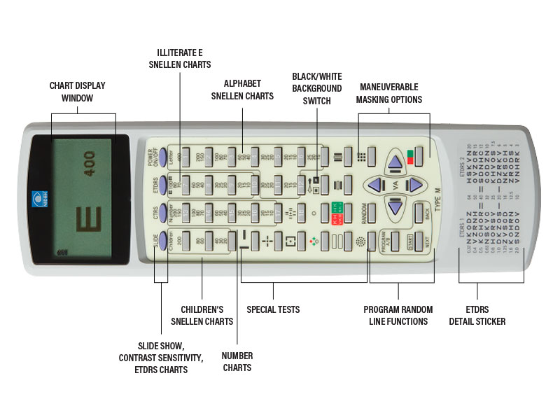 Marco SC-1600 Acuity Chart Remote Control