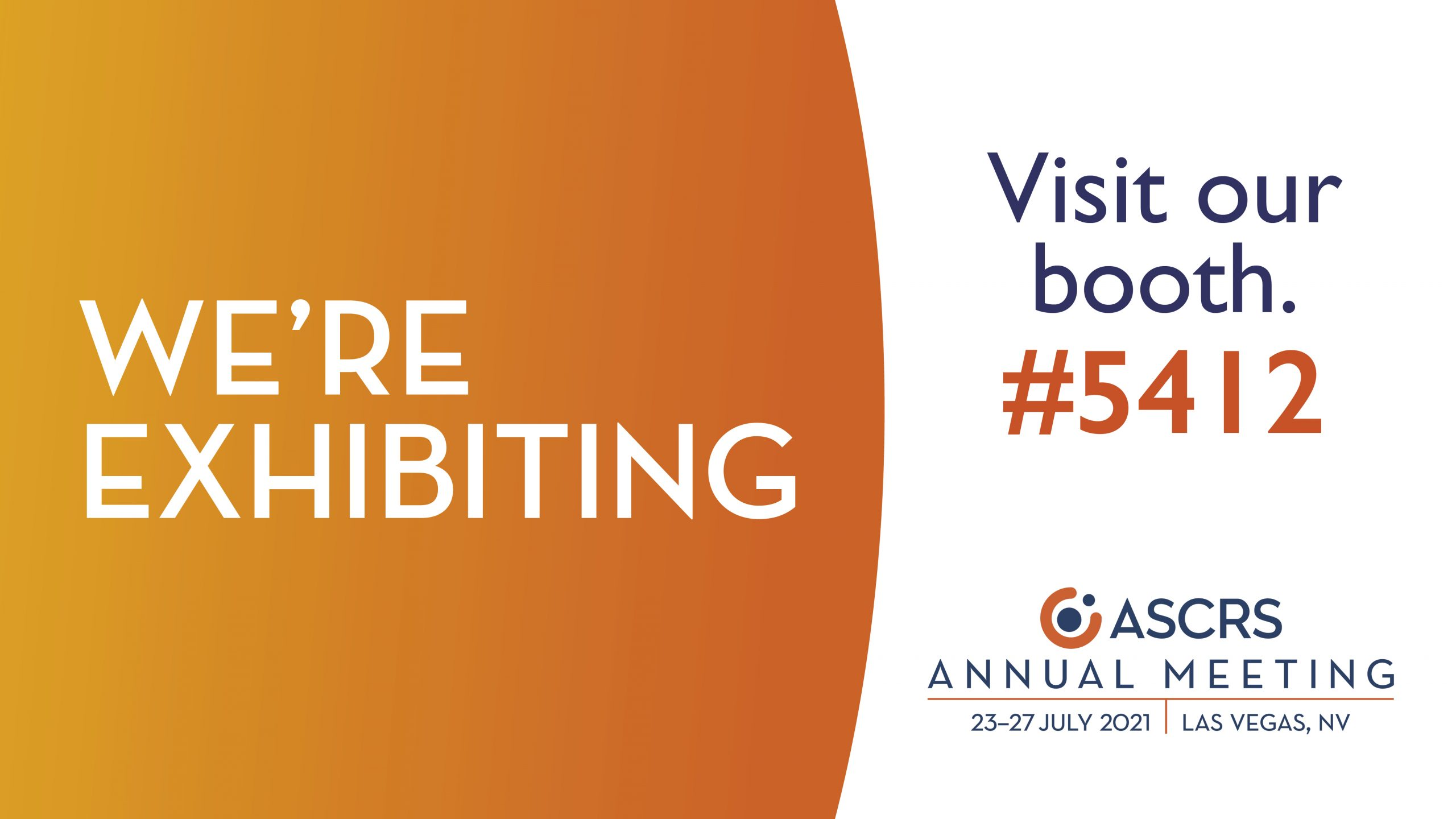 Join us at ASCRS 2021 – Visit Marco Booth #5412!